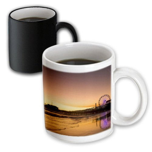 3dRose California, Santa Monica Pier-US05 BJA0432-Jaynes Gallery, Magic Transforming Mug, - Monica Santa Outlet