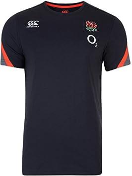 Canterbury Camiseta para Entrenamiento de la selección Inglesa para Hombre, de algodón, de la