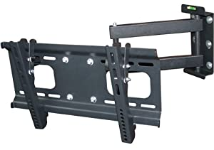 Monoprice Full-Motion Articulating TV Wall Mount Bracket for TVs 32in to 55in Max Weight 88 lbs Extension Range of 3.8in to 18.7in VESA Patterns Up to 400x200 Works with Concrete & Brick