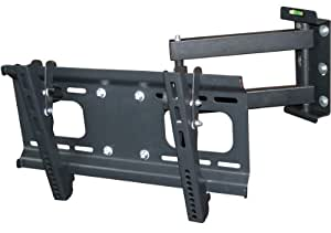 """Monoprice Full-Motion Wall Mount Bracket for 32""""- 46"""" and some 50""""-55"""" TVs Flat Screen TV (LCD, Plasma, LED) - VESA Mount, UL Certified"""