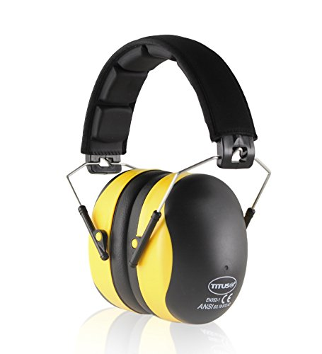Titus Updated (Premium Headband) Yellow 37 NRR Ear Muff - Quality Hearing Protection Over-Ear - Australia List Airport