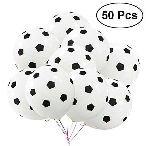 TOYMYTOY 50Pcs Party Balloon Soccer Birthday Latex Rubber Balloons Kit for Decoration,12Inch]()