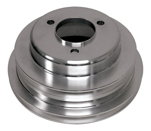 CHEVY BIG BLOCK ALUMINUM CRANK PULLEY - 3 GROOVE (LONG) (Pulley Chevy Aluminum)