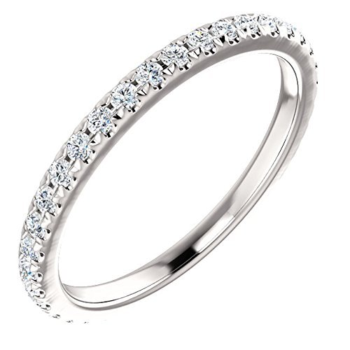 - French Set White Diamond Eternity Band 14k Gold 1/2ct. TDW(H Color, SI2 Clarity)