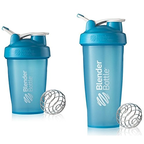 8 Classic Putter (2 Pack Blender Bottle Classic 20 Oz & 28 Oz Classic loop top, Shaker Cup By SUNDESA Protein Shaker, Full Aqua)