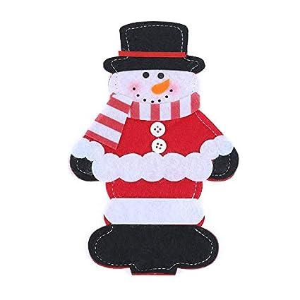 Decorations Home Christmas Decoration Knife K Claus Elk Snowmen Tableware Set Home Party Decor