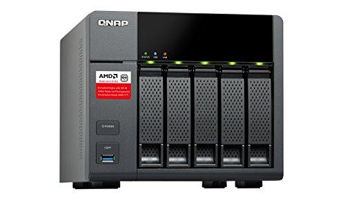 QNAP TS-563 NAS Torre Ethernet Negro - Unidad Raid (20 TB, Unidad de Disco Duro, Unidad de Disco Duro, SSD, Serial ATA III, 4000 GB, 2.5/3.5