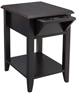 Simmons Upholstery Storage Chair Side Table, Merlot