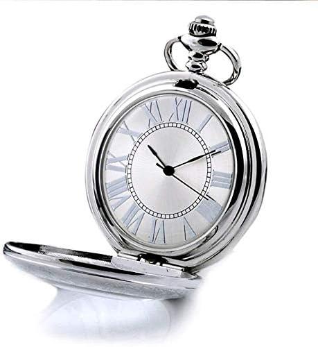 ファッションフリップフォト拡大鏡懐中時計ローマのキャラクターレトロ中空ランヤードさん機械式腕時計の学生表。