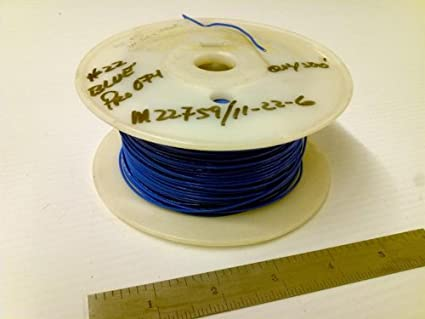 Allied Wire & Cable | Allied Wire Cable M22759 11 22 6 Blue Ptfe 22 Gauge Wire