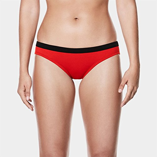 NIKE Women's Performance Guard Bottom (Red, Large)