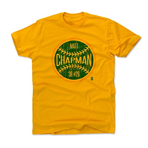 Oakland Athletics Gear (500 LEVEL's Matt Chapman Kids T-Shirt 10-12Y Gold - Matt Chapman Oakland Ball G - Oakland Baseball Fan Gear)
