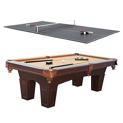 Barrington Square Leg Billiard Pool Table Table Tennis Top W - Md pool table