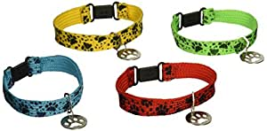 12 PUPPY PAW Collar Friendship BRACELETS/Kitten/CAT/DOG/Paw Print PARTY FAVORS/Assorted Colors 7/DOZEN/TOYS/Birthday by OTC