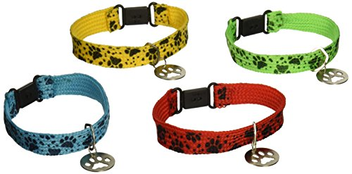 Dog Puppy Cat - 12 PUPPY PAW Collar Friendship BRACELETS/Kitten/CAT/DOG/Paw Print PARTY FAVORS/Assorted Colors 7/DOZEN/TOYS/Birthday by OTC