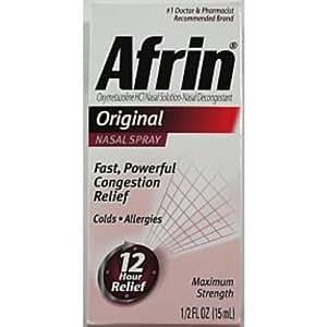 Amazon Com Afrin Original Nasal Spray 5 Oz Case Pack 36