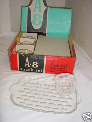 Federal Glass Snack (Federal Glass Co. A-8 Snack Set)