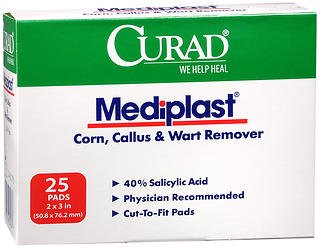 Curad Mediplast Pads 2'' x 3'' 25 ea (Pack of 5) by Curad