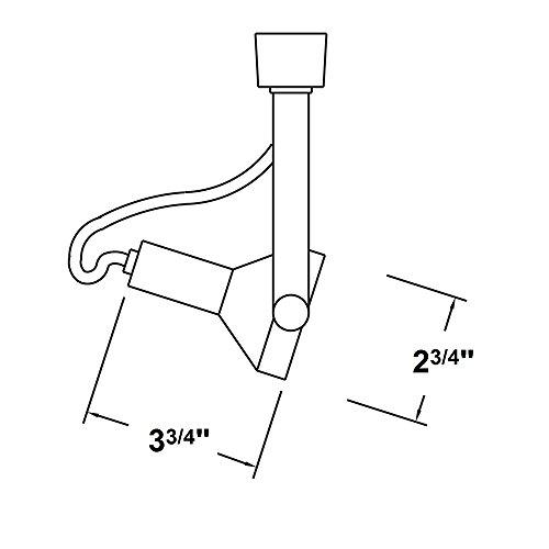 NICOR Lighting Gimbal Ring Head 50-Watt Directional Track Light Head, Nickel (Nickel Gimbal Ring)
