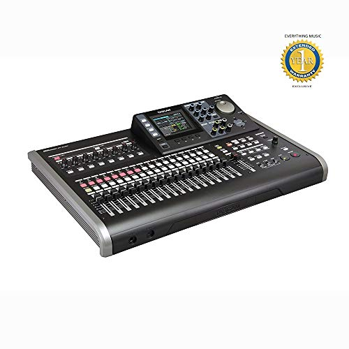 Tascam DP-24SD 24-Track Digital Portastudio Recorder with Microfiber and Free EverythingMusic 1 Year Extended Warranty (Tascam Dp 008 8 Track Digital Portastudio)