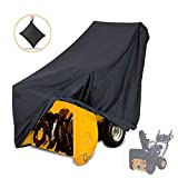 """NASUM Snow Thrower Cover, Two-Stage Snow Blowers Cover, 50"""" L x 43"""" H x 35"""" W, Waterproof, UV Protection, for Most Electric Snow Blowers with Locks Drawstring, Buckles, and Carrying Bag"""