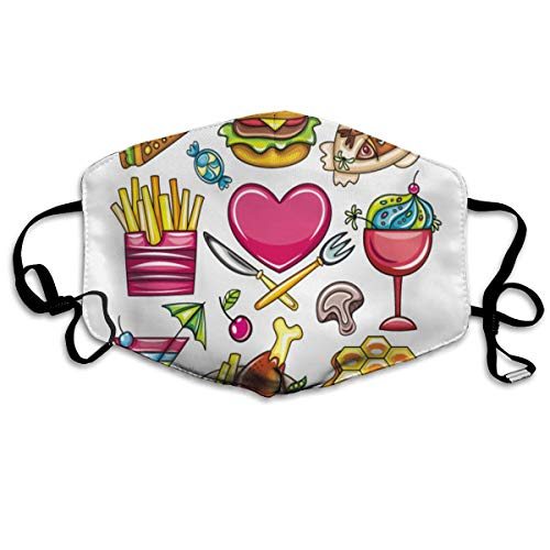Adjustable Ear Loops Mouth Mask Sandwiches Hamburgers Candy Anti-dust Face Mask Washable Dustproof Anti-Bacterial Masks Polyester Breath Safety Warm Outdoor Masks for Men and Women -