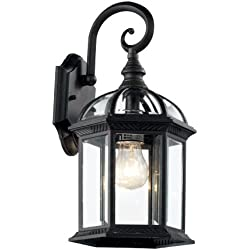 "Trans Globe Lighting 4181 BK Outdoor Wentworth 15.75"" Wall Lantern, Black"