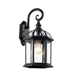 Garden and Outdoor Trans Globe Lighting 4181 BK Outdoor Wentworth 16″ Wall Lantern, Black outdoor lighting