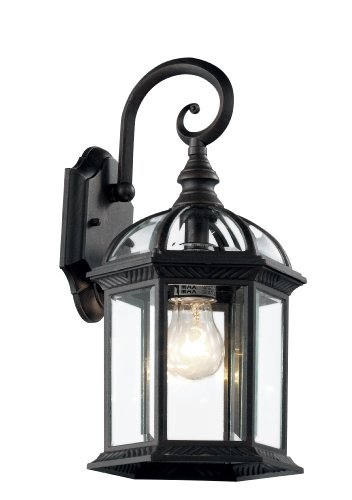 Classic White Landscape Lighting (Trans Globe Lighting 4181 BK Outdoor Wentworth 15.75