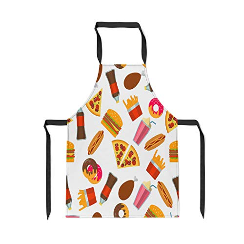 Pinbeam Apron Flat of Fastfood Fat Meal Food for Pizza with Adjustable Neck for Cooking Baking Garden from Pinbeam