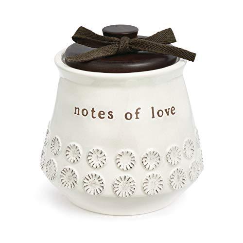 - DEMDACO Notes of Love White 4.5 x 4.5 Inch Stoneware Decorative Jar