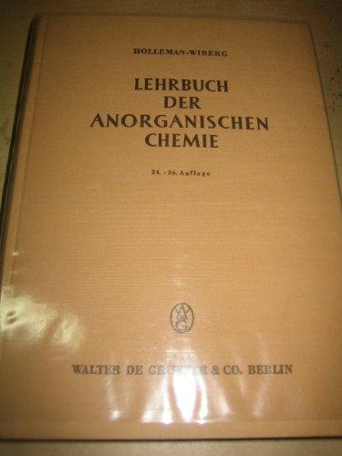 HOLLEMAN/WIBERG:LEHRBUCH DERANORG.CHEMIE 100A3AE