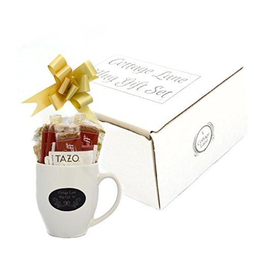 Starbucks Coffee, Hot Cocoa, and Tea Boxed Set Featuring Starbucks Via Coffee, Starbucks Hot Cocoa, Tazo Tea, Nonni's Biscotti, Biscoff Cookies, Honey Stix, Sugar Crystal Stirrer, and Mug
