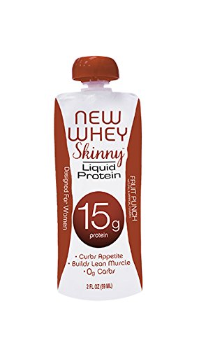 New Whey 15 Grams Liquid Skinny Protein Supplement, Fruit Punch, 2 Ounce (6 Count)