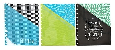 Staples Arc System Pocket Dividers, Assorted Fashion, 9-1/4
