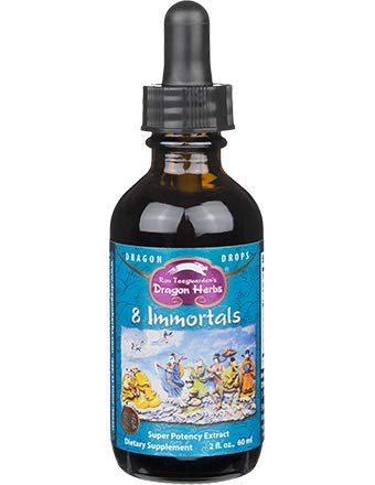 Dragon Herbs 8 Immortals Drops – 2 fl oz – Super-Premium Grade Cordyceps, Reishi Mushroom, Goji Berries, He Shou Wu, Schizandra, Snow Lotus, Rhodiola, Ginseng
