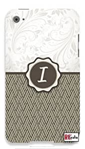 Monogram Initial Letter I Apple ipod 5 Ipod 5g Quality Hard Case Snap On Skin for ipod Gen 5 and 5, 5G (WHITE CASE)