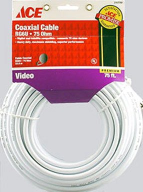 (CABLE COAX RG6 75' WHT)