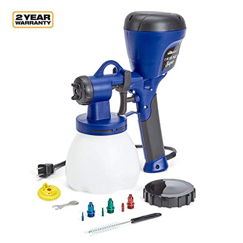 HomeRight C800971.A Super Finish Max Extra Power Painter, Home Sprayer HVLP Spray Gun for Painting Projects, Blue (Best Hvlp Spray Gun For Furniture)