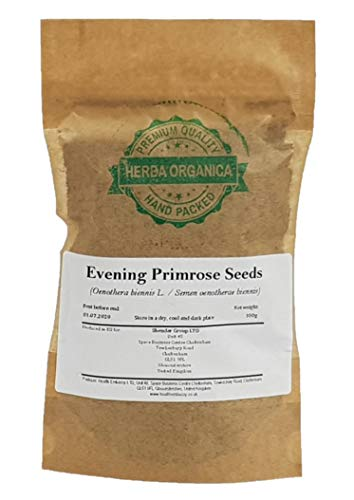 Evening Primrose Seeds - Oenothera Biennis L # Herba Organica # Sun Drop, Evening Star, Hog Weed (100g)
