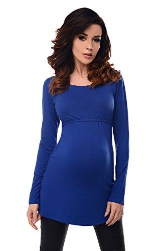 Purpless Maternity 2in1 Maternidad y de Enfermería Camiseta Con Cuello Redondo Túnica 7021 Royal Blue