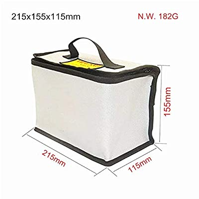 EYESKY Fireproof Explosionproof Lipo Safe Bag for LiPo Battery Storage and Charging Large Space Highly Sturdy Double Zipper Lipo Battery Guard 215155115MM: Toys & Games