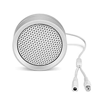 Amcrest Hi-Fi Audio Microphone for IP Security Cameras, CCTV Surveillance RCA Microphone for DVR's w/High Fidelity Pickups for Audio Recording, AM-HAP120 (Male Connector Required, Sold Separately)