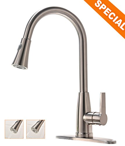 commercial-stainless-steel-single-handle-brushed-nickel-high-arc-pull-out-sprayer-kitchen-sink-fauce