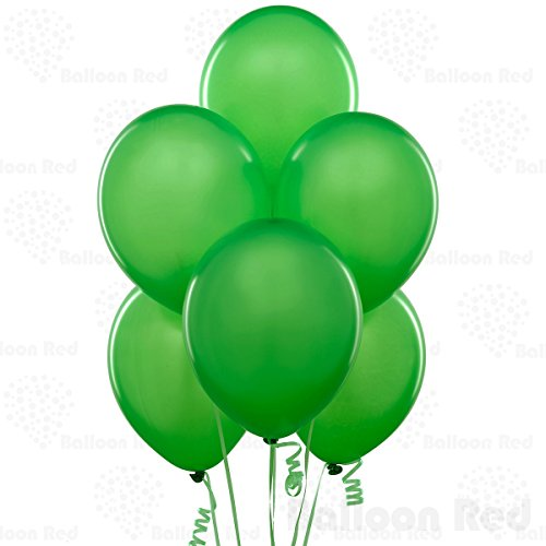 Green Latex Balloons (12 Inch Latex Balloons (Premium Helium Quality), Pack of 72, Apple Green)