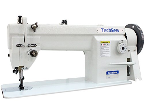 Techsew 1460 Leather Walking Foot Industrial Sewing Machine with Assembled Table & Servo Motor