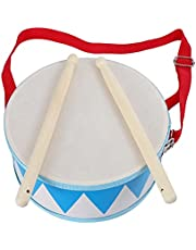 Kids Drum Wood Toy Drum Set with Carry Strap Stick for Kids Toddlers Gift for Develop Children's Rhythm Sense (Color : Muti)