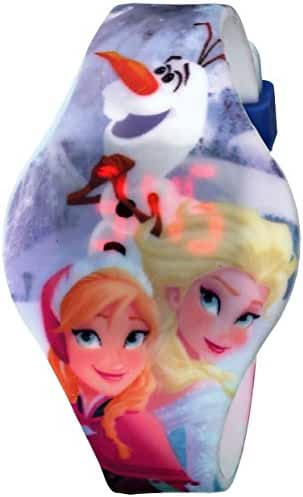 Disney Kids' FZN3630 Frozen Anna and Elsa Watch With Graphic Band