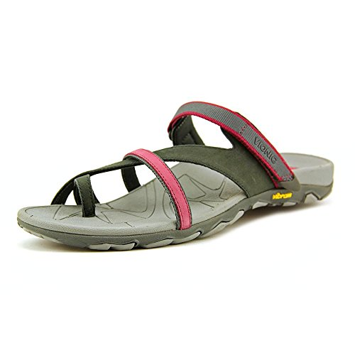 Orthaheel Mojave Womens Orthotic Sandals Charcoal/Berry - 5