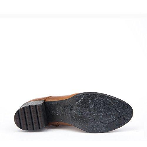 Felmini - Zapatos para Mujer - Enamorarse con Ramses 9035 - Botines con Cordones - Genuine Nobuck - Beige - 0 EU Size
